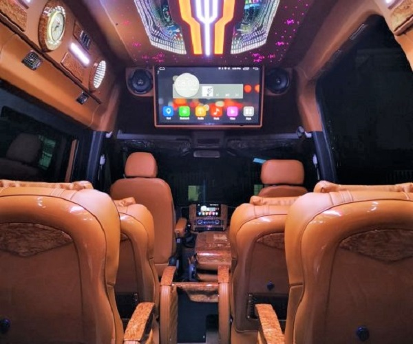 thuê xe limousine 12 chỗ đi châu đốc của nhà xe alolimo